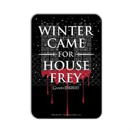 Winter Came For House Frey - Game Of Thrones Official Fridge Magnet