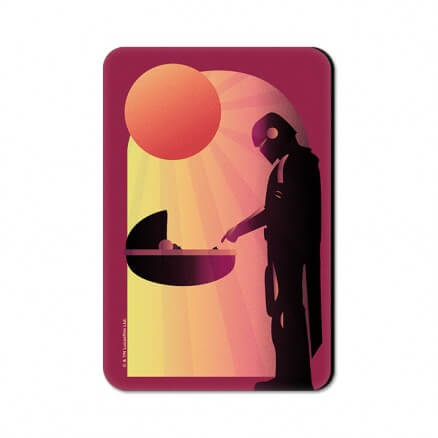 Mando And The Child - Star Wars Official Fridge Magnet