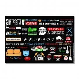 Friends: Infographic - Rectangle Fridge Magnet