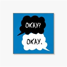 The Fault In Our Stars: Okay Okay - Fridge Magnet