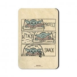 Protect, Attack, Snack - Star Wars Official Fridge Magnet