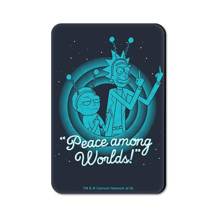 Peace Among Worlds - Rick And Morty Official Fridge Magnet