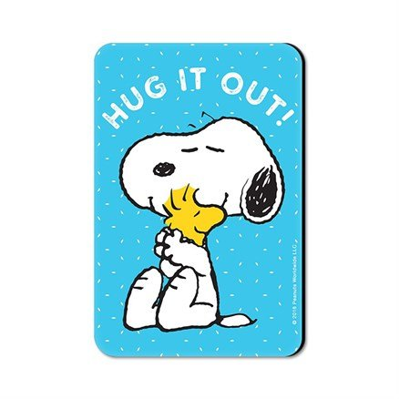 Hug It Out - Peanuts Official Fridge Magnet