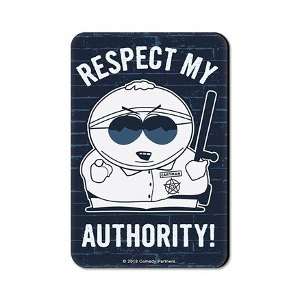 Cartman: Respect My Authority - South Park Official Fridge Magnet