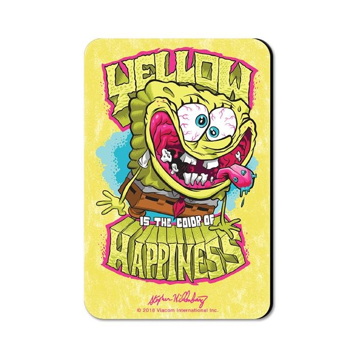 Yellow Is The Color Of Happiness - SpongeBob SquarePants Official Fridge Magnet
