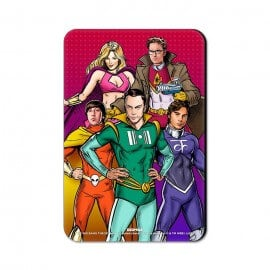 Superhero Gang - The Big Bang Theory Official Fridge Magnet