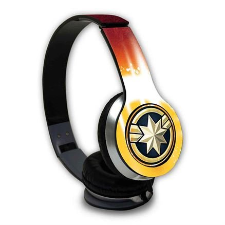 Fiesty Captain Marvel - Official Marvel Wired Headphones
