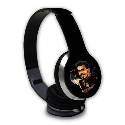 Chahal: Splash Illustration - Official Royal Challengers Bangalore Wired Headphones