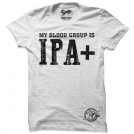 My Blood Group Is IPA+ (White) - Drifters Official T-shirt