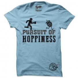 Pursuit Of Hoppiness (Sky Blue) - Drifters Official T-shirt