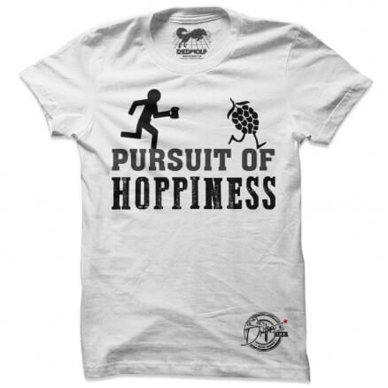 Pursuit Of Hoppiness (White) - Drifters Official T-shirt