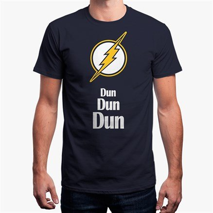 Dun Dun Dun - Navy Blue T-Shirt