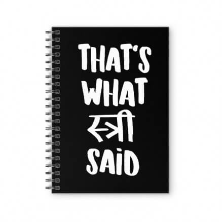 #thatswhatstreesaid - Spiral Notebook