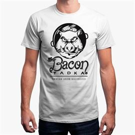 Bacon Tadka B&W Logo T-Shirt
