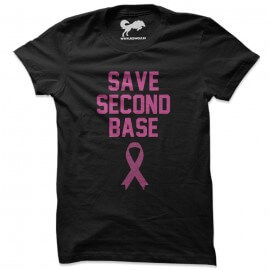 Beautiful Girls: Save Second Base Black T-shirt [Pre-order Product]