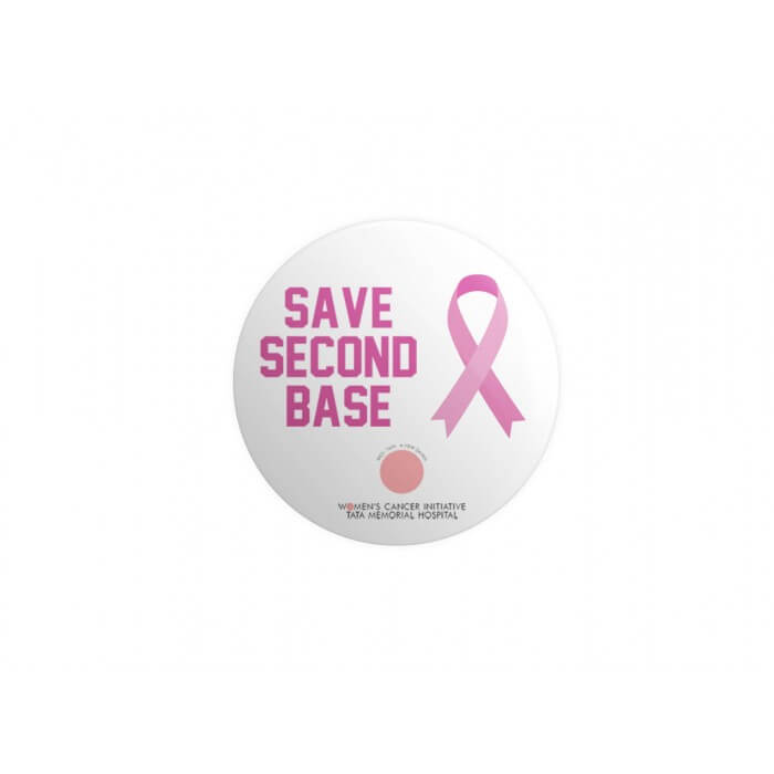 Beautiful Girls: Save Second Base White Badge [Pre-order Product]