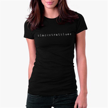 Blackstratblues Black T-shirt - Women's