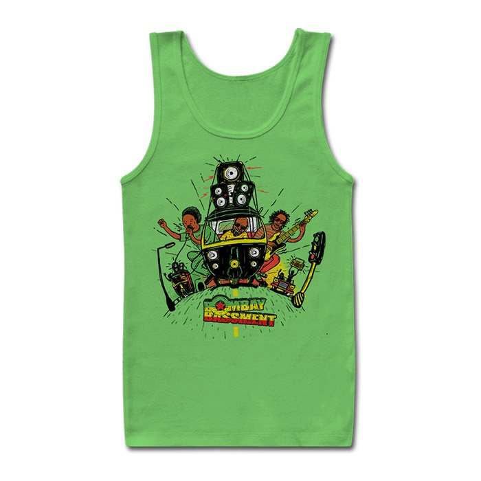 Rasta Ride - Green Tank Top [Pre-order - Ships on 24th December 2018]
