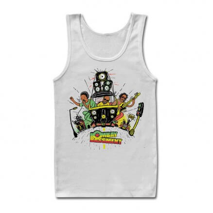 Rasta Ride - White Tank Top