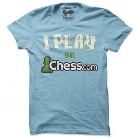 I Play On Chess.com (Light Blue) - T-shirt