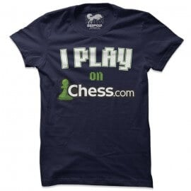 I Play On Chess.com (Navy) - T-shirt
