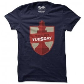 Titled Tuesday (Navy) - T-shirt