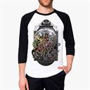 Demonic Resurrection - Dashavatar Baseball T-Shirt