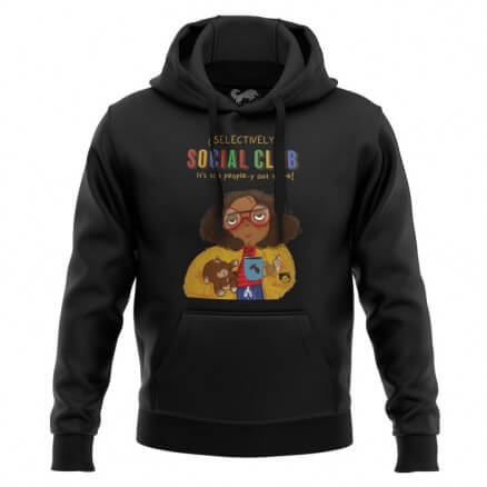 Selectively Social Club (Black) - Hoodie