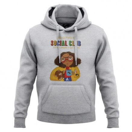 Selectively Social Club (Heather Grey) - Hoodie