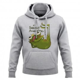 Toadally Awesome (Heather Grey) - Hoodie