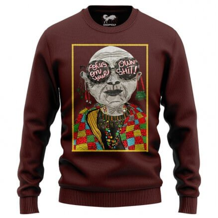 Focus On Your Own Shit (Maroon) - Light Pullover