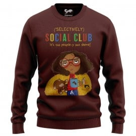 Selectively Social Club (Maroon) - Light Pullover