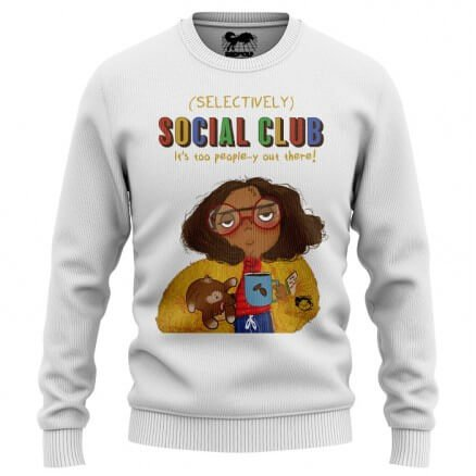 Selectively Social Club (White) - Light Pullover