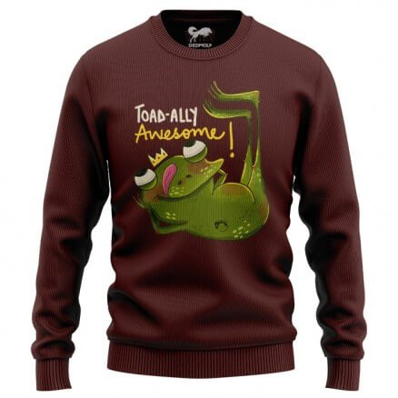 Toadally Awesome (Maroon) - Light Pullover