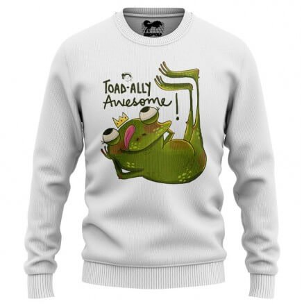 Toadally Awesome (White) - Light Pullover