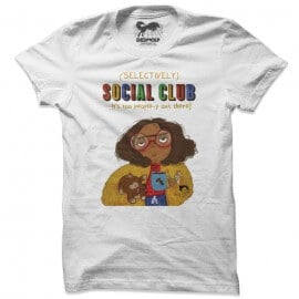 Selectively Social Club (White) - T-shirt