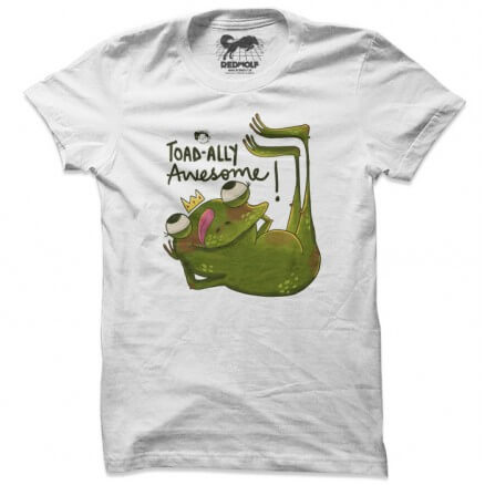 Toadally Awesome (White) - T-shirt