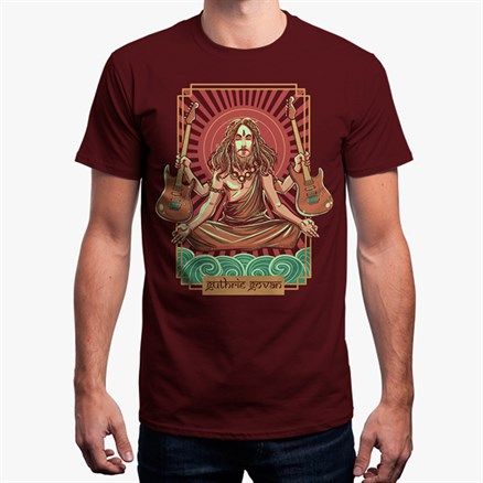 Guthrie Govan India Tour T-shirt (Maroon - Limited Edition)
