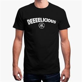 Deeeelicious (Black) - Men's T-Shirt