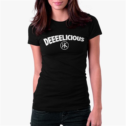 Deeeelicious (Black) - Women's T-Shirt