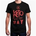 Keto All The Way (Black) - Men's T-Shirt