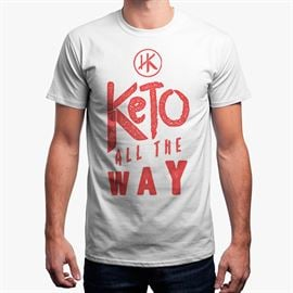 Keto All The Way (White) - Men's T-Shirt