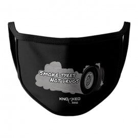 Smoke Tyres (Black) - Knocked Cars Face Mask