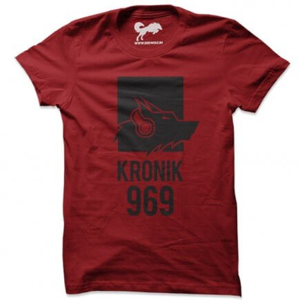 Kronik 969 (Wolf Music) - Red T-shirt [Pre-order - Ships 15th December 2018]