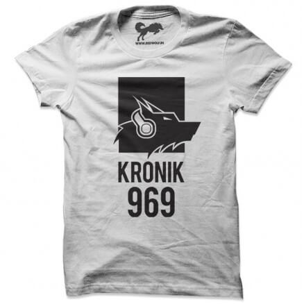 Kronik 969 (Wolf Music) - White T-shirt [Pre-order - Ships 15th December 2018]
