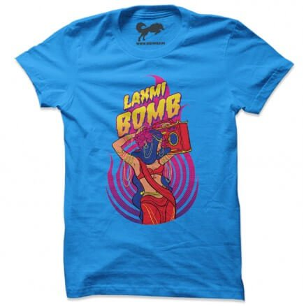 Laxmi Bomb 'Crackers' - Blue T-shirt