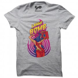 Laxmi Bomb 'Crackers' - Heather Grey T-shirt