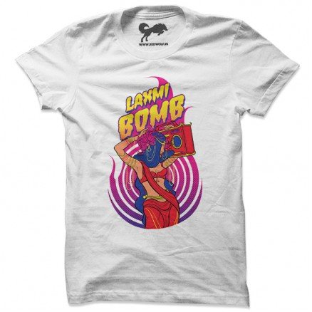Laxmi Bomb 'Crackers' - White T-shirt