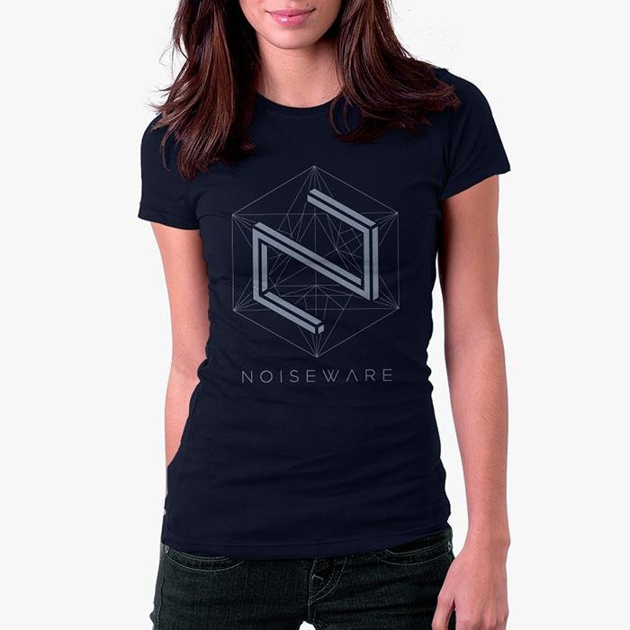 Noiseware: Parallax - Navy Blue Womens T-shirt [Pre order - Ships 7th February 2018]