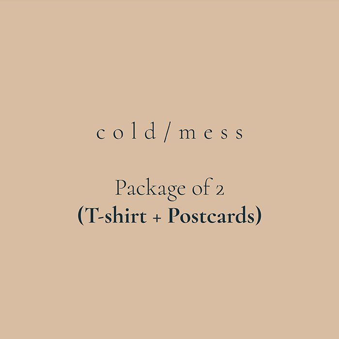 cold/mess package of 2 (Tee + Postcards)